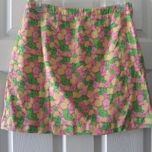 LILLY PULIZTER LEMON AND LIME ALINE SKIRT